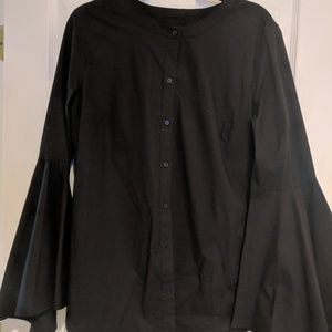 Banana Republic black taylored fit shirt